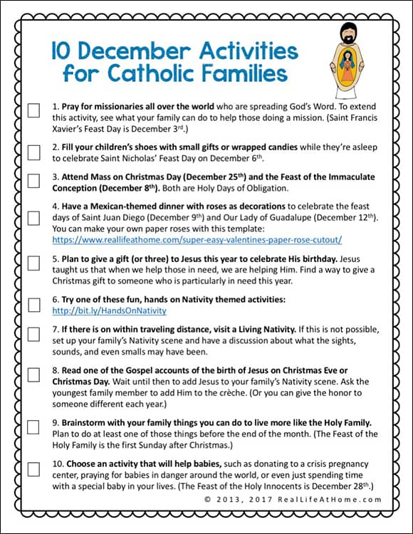 picture regarding St Nicholas Prayer Printable named 10 Things to do for Catholic Households within just December Free of charge Printable