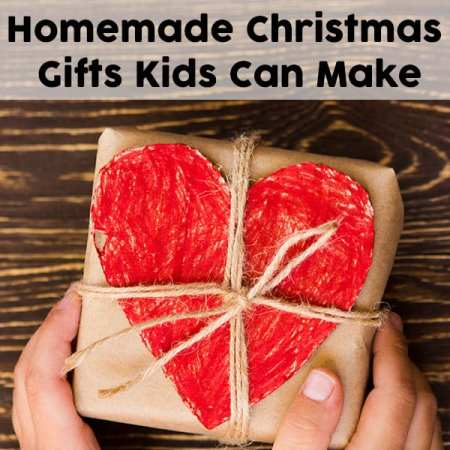 Want to get your kids involved in Christmas gift giving? Let them help out and make homemade gifts for your family and friends. Don't miss this list of homemade gifts kids can make. | Real Life at Home