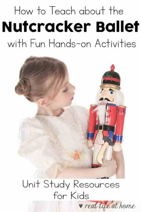 Fun Hands-on Activities and Resources for Teaching Kids about the Nutcracker Ballet #Nutcracker #Ballet #MusicForKids