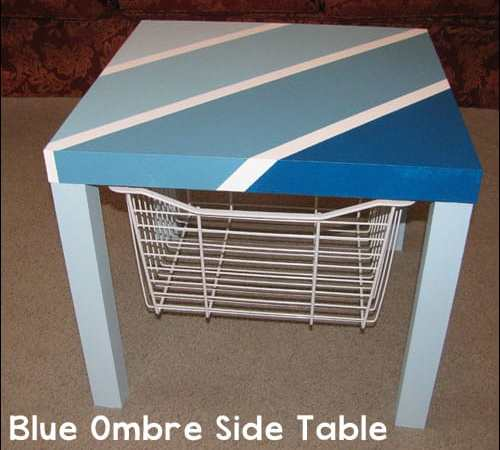 Blue Ombre Side Table Project