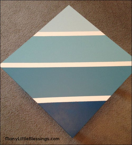 blue ombre tabletop