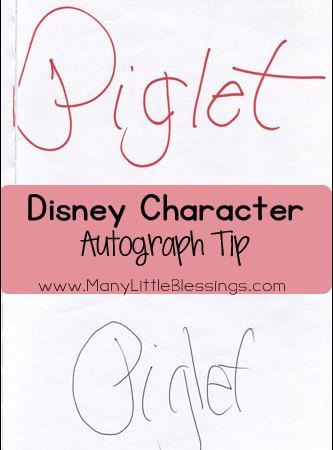 Going to Disney: A Disney Character Autograph Tip