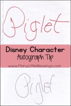 Meeting Disney Characters: An Autograph Tip
