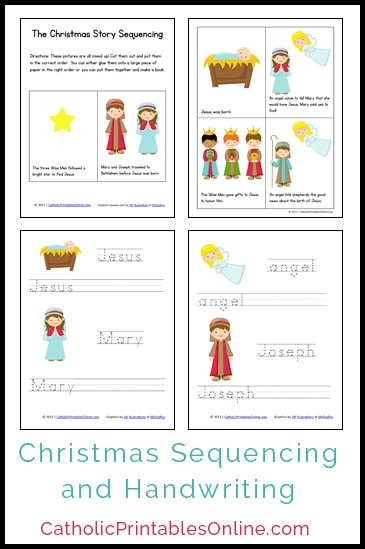 Christmas Mini Book And Handwriting Printables Pack