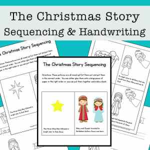 Christmas Mini Book for Sequencing and Handwriting Pages (free packet)