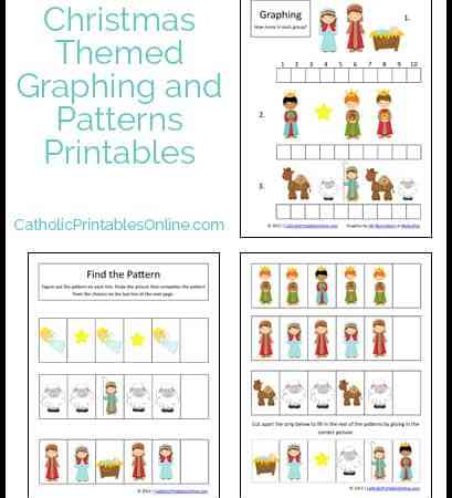 Christmas Math Printables: Graphing and Patterns