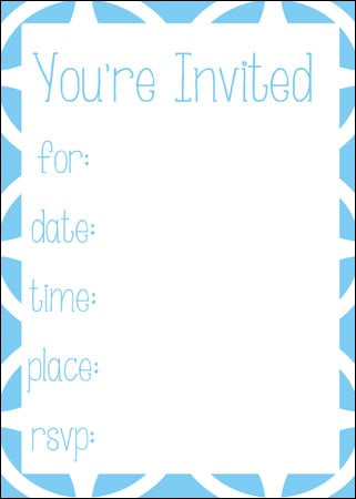 geometric design free invitation download