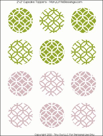 clean and modern geometric cupcake toppers download