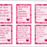 Printable Religious Valentine Cards for Kids