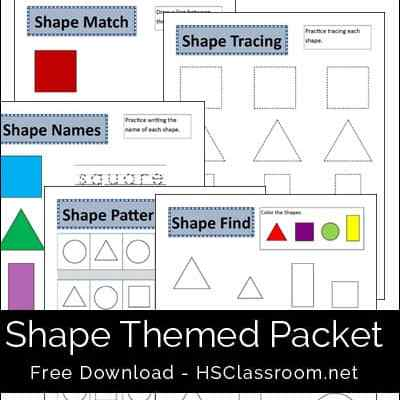 Shapes Packet Printables