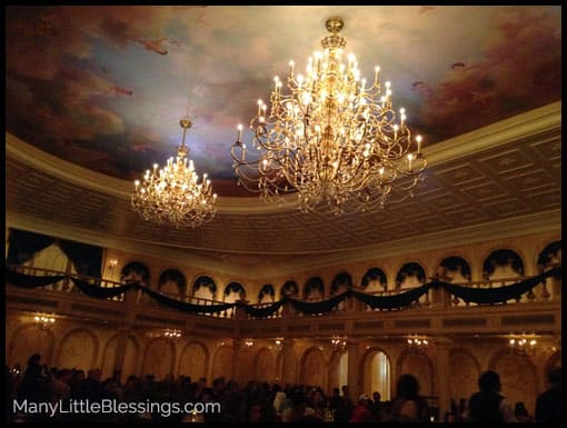 The Beautiful Ballroom at Be Our Guest {A Quick Service Dining Option for Lunch!}
