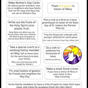 May Activities for Catholic Families Printable