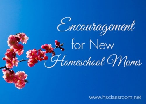 Encouragement for New Homeschool Moms