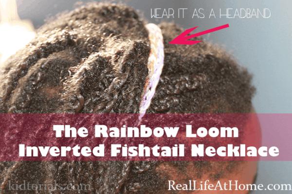 rainbow loom inverted fishtail necklace