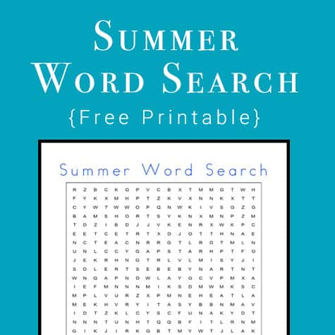 picture about Free Printable Summer Word Search identify Cost-free Summer season Phrase Glance: Summertime Themed Phrase Seem Printable