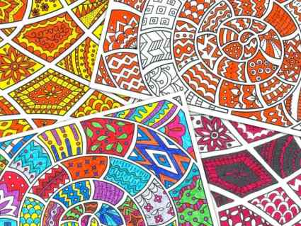 Zentangle Coloring Pages from ColorYourMood on Etsy