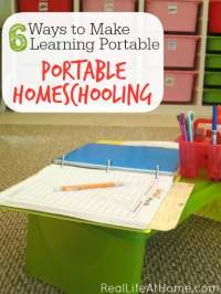 How to Make Homeschooling Portable