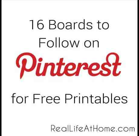 16 Pinterest Boards to Follow for Free Printables