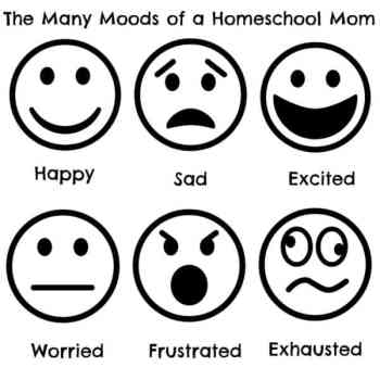 The Many Moods of a Homeschool Mom