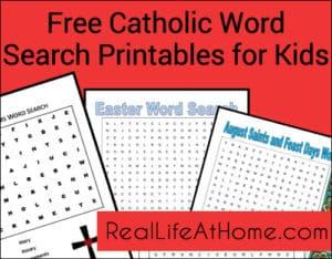Word Search Printables for Catholic Kids {Free!} | RealLifeAtHome.com