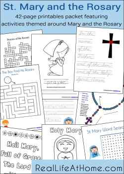 Mary and the Rosary Printables Packet (42 pages!)