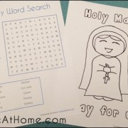 Sample Pages from St. Mary and the Rosary Printables Packet