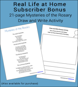 Rosary Draw and Write Activity Printable Packet