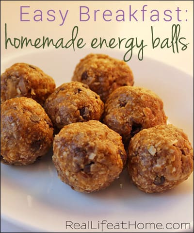 Easy Breakfast or Snack: Homemade Energy Balls Packed with Protein | RealLifeAtHome.com