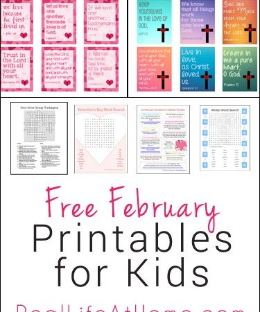 Free February Printables for Kids
