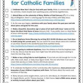 10 Activities for Catholic Families in January {Free Printable}