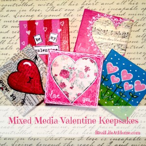 Mixed Media Valentine Keepsakes