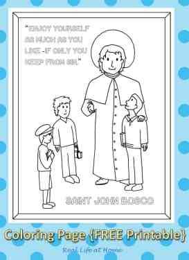 Saint John Bosco Coloring Page