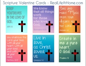 Bible verse valentine card printable