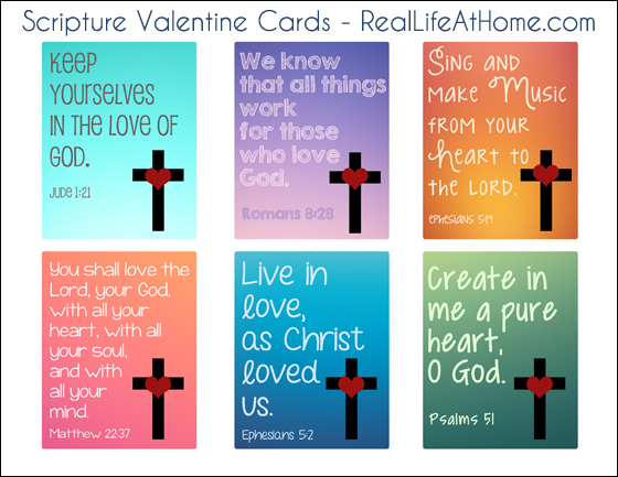 Religious Valentine Cards for Kids {Free Printable}