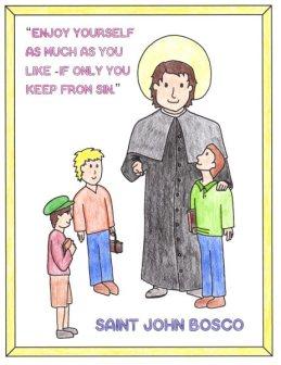Free Saint John Bosco Coloring Page