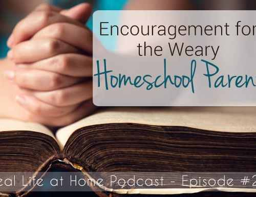 Encouragement for the Weary Homeschool Parent
