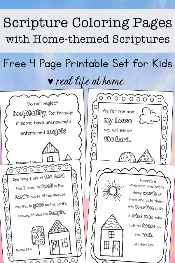- Home-Themed Scripture Coloring Pages Free Printables