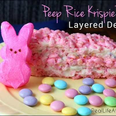 Peep Rice Krispie Treat Layered Dessert Recipe