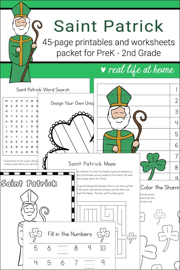 picture about St Patrick Word Search Printable identified as Saint Patrick Printables and Worksheet Packet for Youngsters