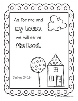 Joshua 24:15 Coloring Page - Free Scripture Coloring Page from Real Life at Home