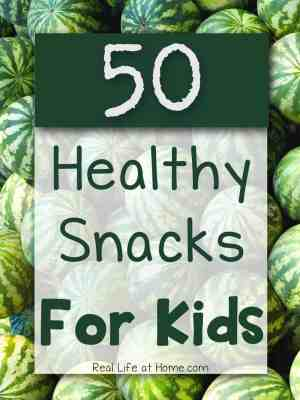 50 Healthy Snacks = Healthy Kids!
