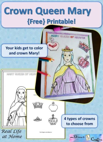 Mary Queen of Heaven Free Printable Activity | RealLifeAtHome.com