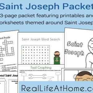 23 page packet featuring printables and worksheets themed around Saint Joseph | RealLifeAtHome.com