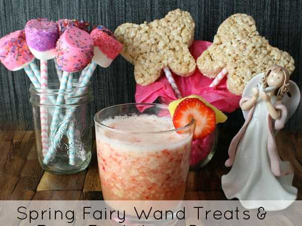 Spring Fairy Wand Treats and Fairy Fruit Juice Recipe