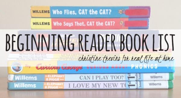 Beginning Reader Book List