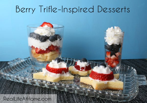 These are all so delicious! Berry Trifle-Inspired Desserts {with Three Variations} | RealLifeAtHome.com