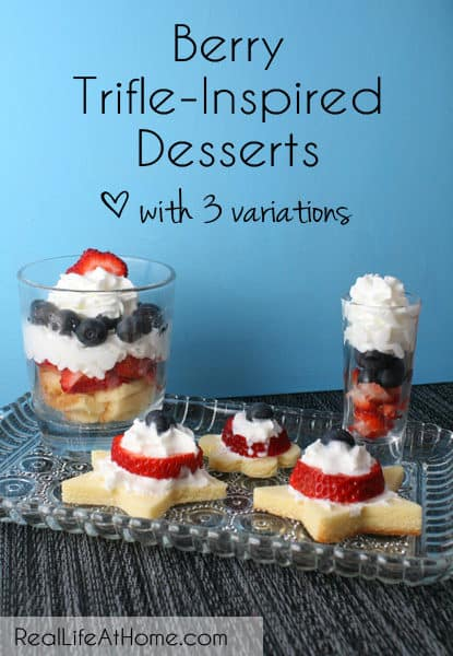 These are all so delicious! Berry Trifle-Inspired Desserts {with Three Variations}   RealLifeAtHome.com