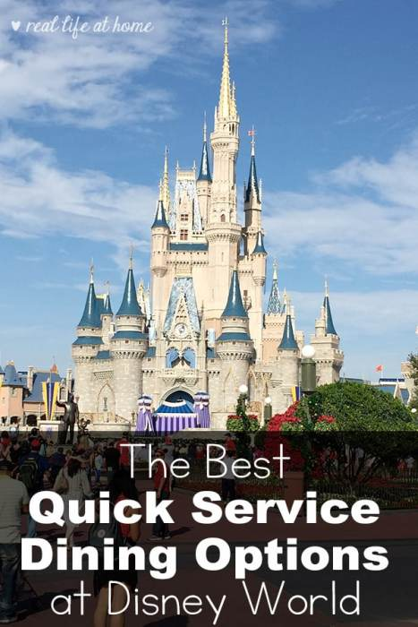 Our Top Picks for the Best Quick Service Dining Options at Walt Disney World #DisneyWorld #QuickServiceDining | RealLifeAtHome.com