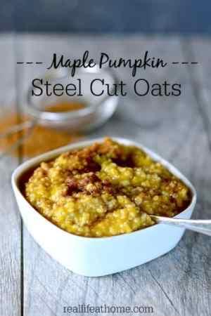 Maple Pumpkin Steel Cut Oatmeal-