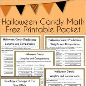 Halloween Candy Math Free Printable Worksheets Packet